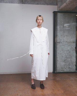 ribbon emb dress (white)