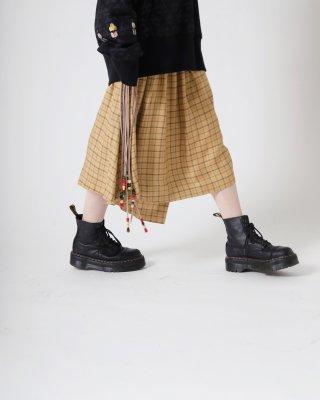 long ribbon skirt (yellow)