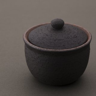 塩壺 黒 大 | 信楽焼