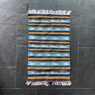 チュニジアキリムマット 96cm×62cm(青) | 一点もの