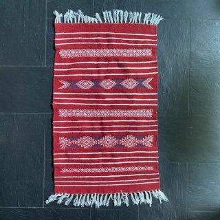 チュニジアキリムマット 110cm×65cm (赤) | 一点もの