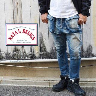 ネイタルデザイン / Natal Design / デニム / G55Sarouel Flap Denim Pants / リアルダメージ / G55 / ND-BD-006-REAL DAMAGE