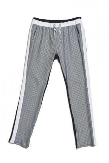 Houndstooth 2-sidedness trousers / women