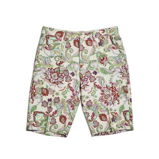 Fleamarket botanical short trousers / men