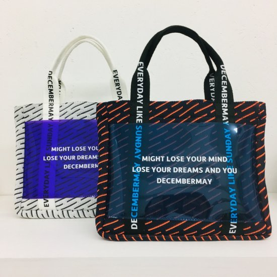 PVC message tote bag