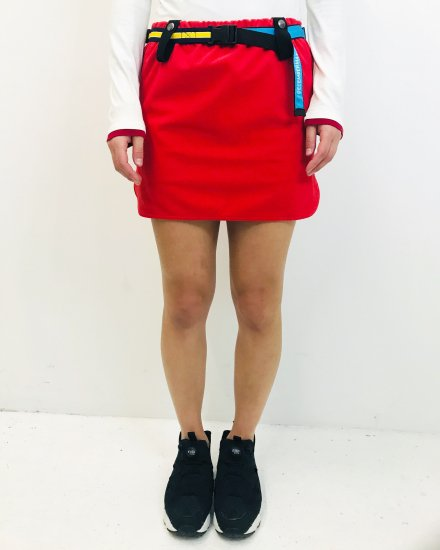 Belt attached some-tight Skirt / WOMAN