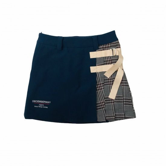 New varsity  ribbon skirt / women