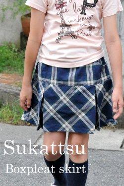 《印刷発送》スカッツ【ボックスプリーツスカート】