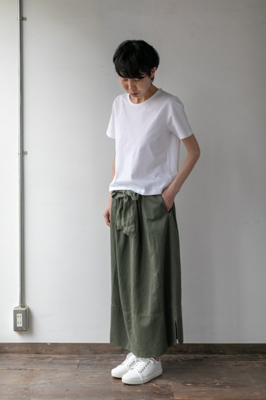 TRANSIT ウエストリボンスカート