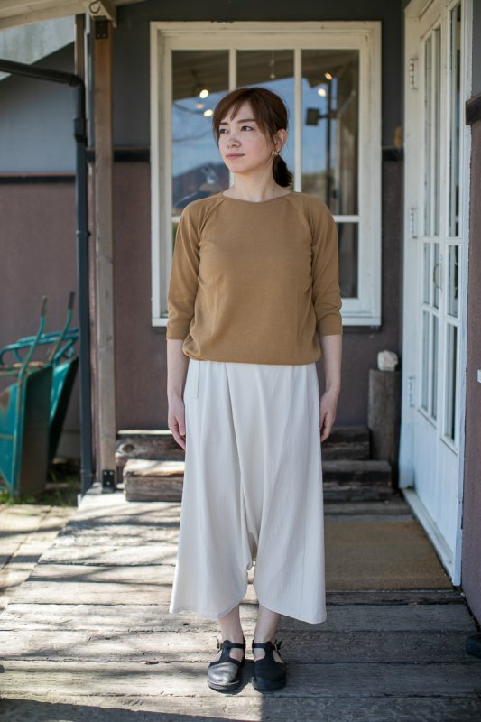 evameva cotton double wrap sarrouel pants