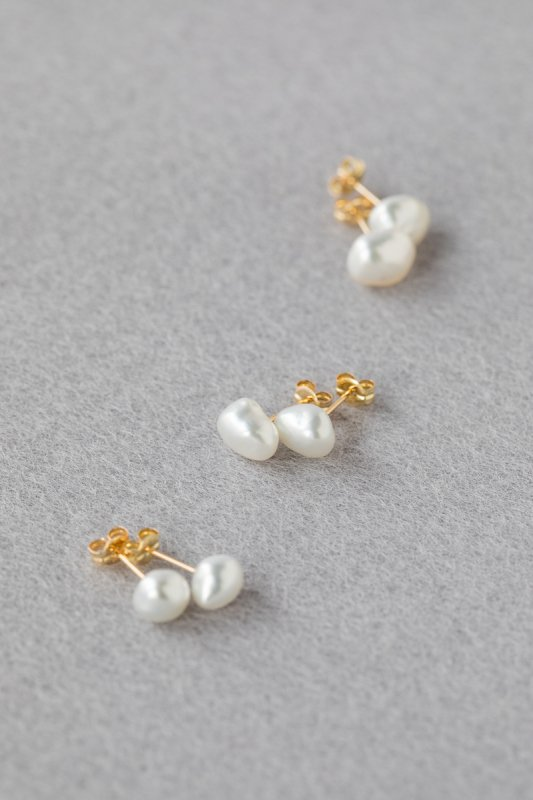 SOURCE Keshi Pearl Post Earrings (Large)