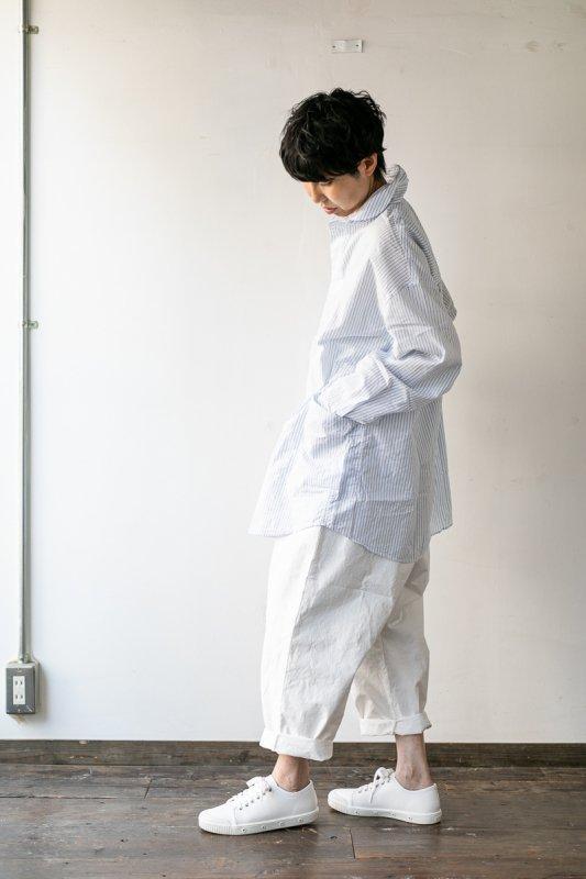 LOLO 定番プルオーバー型 ビッグシャツ ストライプ