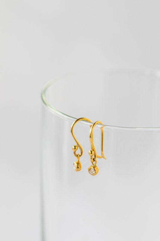 SOURCE  2mm Rosecut Diamond Hanging Earrings