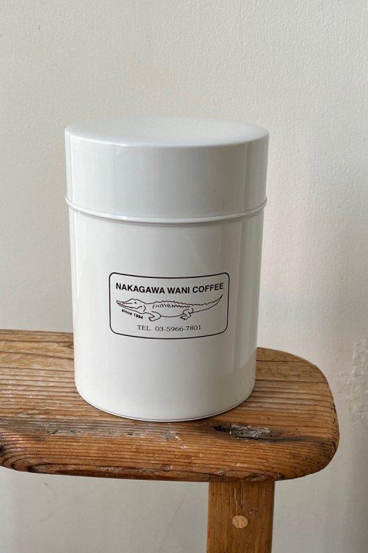 中川ワニ珈琲 コーヒー缶  ホワイト