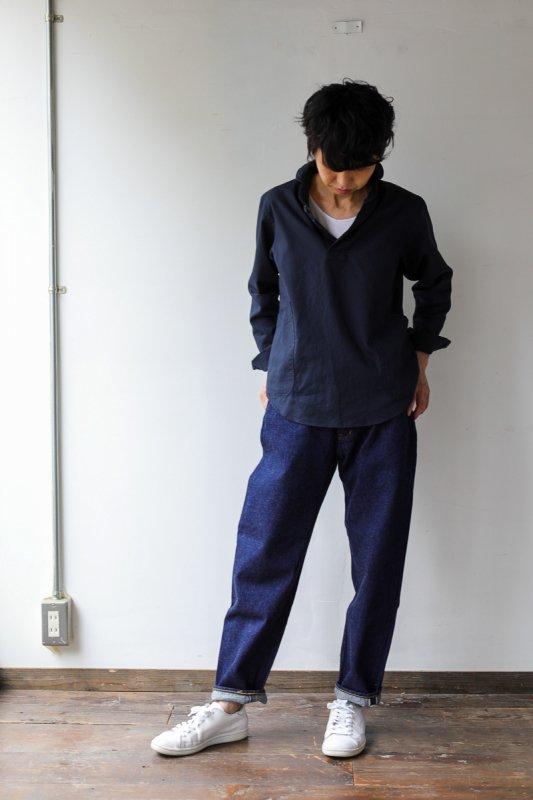 LOLO 定番プルオーバーシャツ(ネイビー)