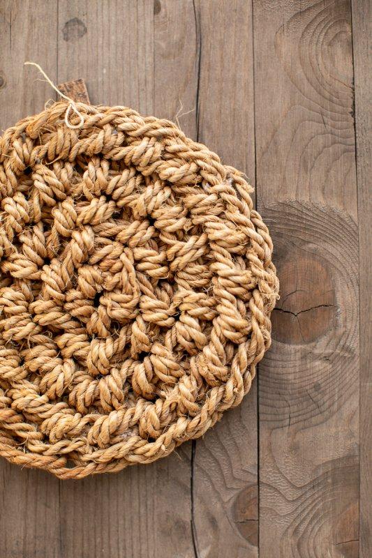 F/style シナの縄の鍋敷