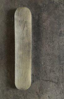 錫蒔地漆平板皿 平丸形