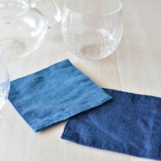 藍染コースター(綿)2枚組セット【徳島県/Saai】
