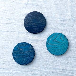 藍染woodコースター(3色展開)【徳島県/NC高島】