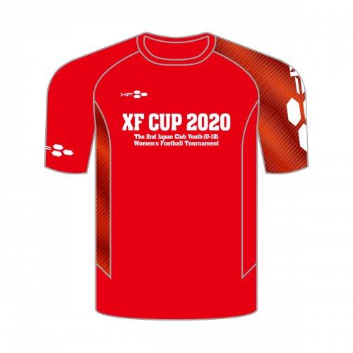 XF CUP 2020 第2回 日本クラブユース女子サッカー大会(U-18)オフィシャル記念Tシャツ レッド