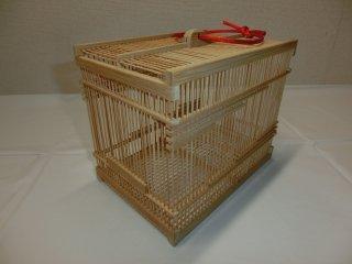 竹製虫かご(大)白