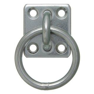 角型オープンアイプレート リング付