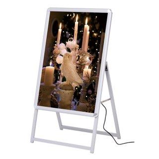 ポスター用 A型看板 LED グリップA A1(片面) シルバー