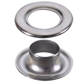 ハトメ 真鍮アイレットシルバー (100ヶ入)φ12