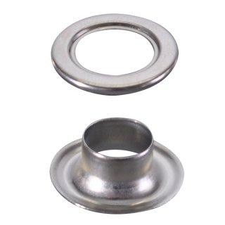 ハトメ 真鍮アイレットシルバー(100ヶ入)φ10