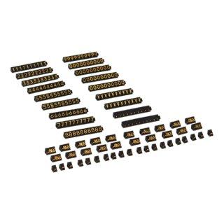 ニュープライスキューブ セット S 黒/金文字