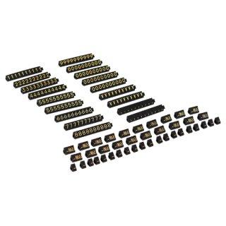 ニュープライスキューブ セット M 黒/金文字