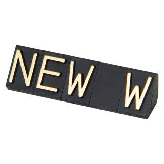 ニュープライスキューブ 補充用単品 L用5セット 黒/金NEW