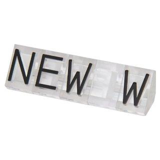ニュープライスキューブ 補充用単品 L用5セット 透/黒NEW