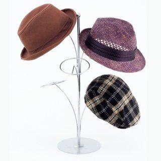 帽子5点掛スタンド クローム