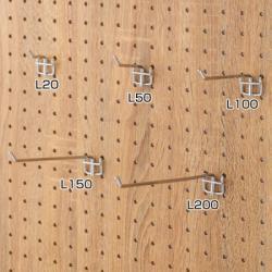 有孔パネル用フック(10本入) L200