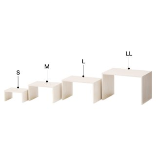 木製コの字ディスプレー(ホワイトウッド) L
