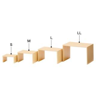 木製コの字ディスプレー(ナチュラル) L