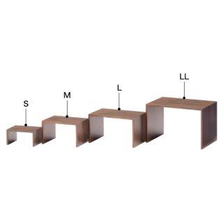 木製コの字ディスプレー(ブラウン) L