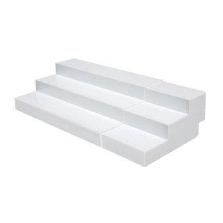 スライド式ひな段(3段) ホワイト