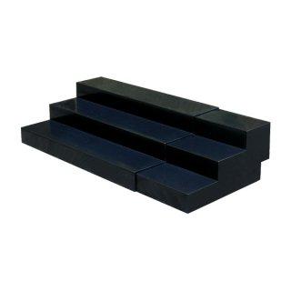 スライド式ひな段(3段) ブラック
