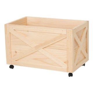 木製ボックス キャスター付 大