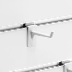スロットウォール用樹脂製フックハンガー白L50