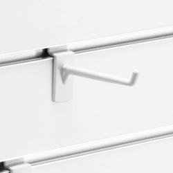 スロットウォール用樹脂製フックハンガー白L80