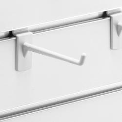 スロットウォール用樹脂製フックハンガー白L100