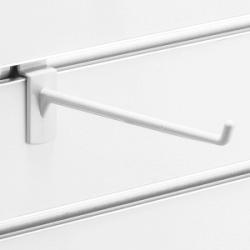 スロットウォール用樹脂製フックハンガー白L150