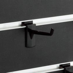 スロットウォール用樹脂製フックハンガー黒L50
