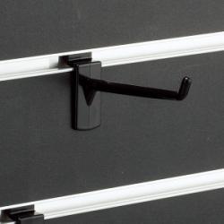 スロットウォール用樹脂製フックハンガー黒L80