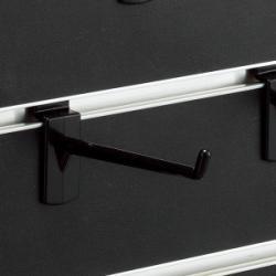 スロットウォール用樹脂製フックハンガー黒L100