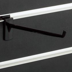 スロットウォール用樹脂製フックハンガー黒L150