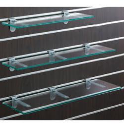 スロットウォール用ガラス棚セットW600 D150